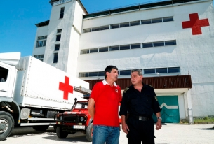 BRC actively assisted with the humanitarian aid for Macedonia